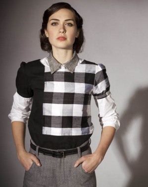 Carrie Parry Fall 2011 Collection Sustainable Designer Check Shirt