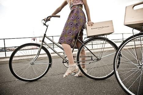 bowery lane bicycles for fashion week