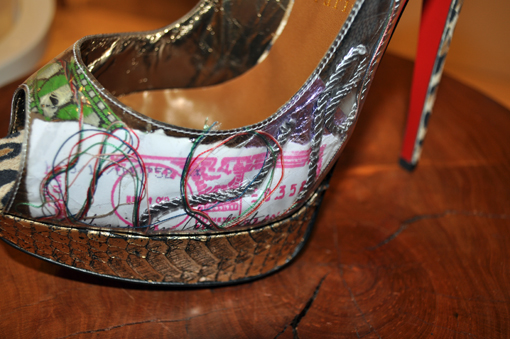 Christian Louboutin Ecotrash Platform Slingback Shoes 2