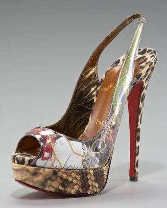 Christian Louboutin Ecotrash Platform Slingback Shoes 4