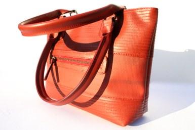 Elvis And Kresse Tote Bag Fire Hose Reclaimed Parachute Silk