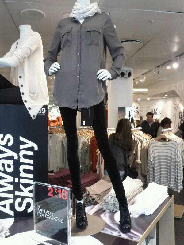 Gap Promoting Anorexia Gap Skinny Mannequin