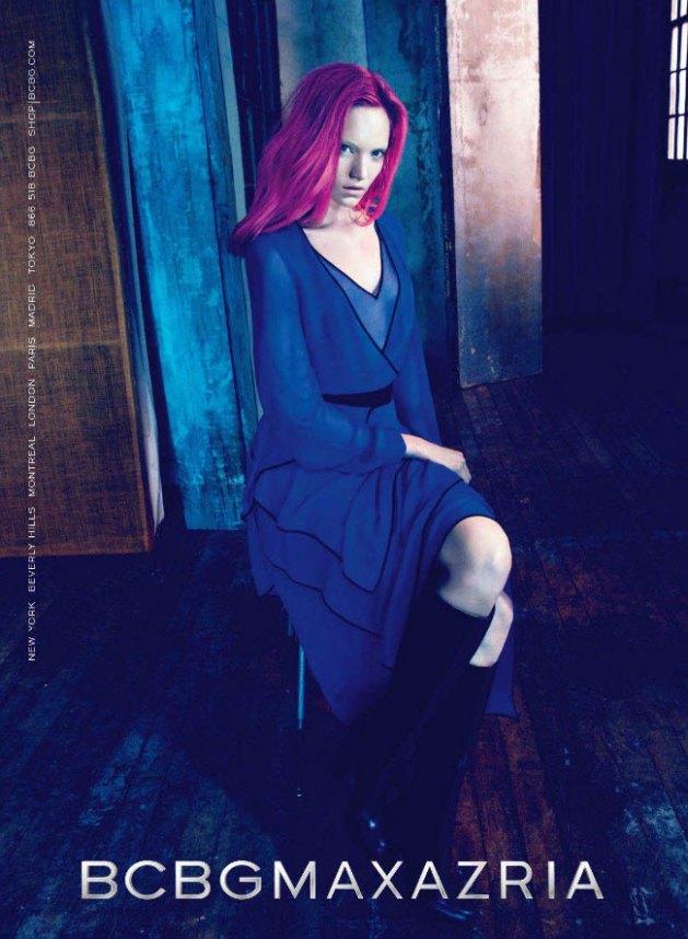 Max Azria Fall 2011 Campaign Blue Dress