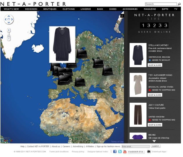 Net A Porter Live Streaming Of Shopping Around The World
