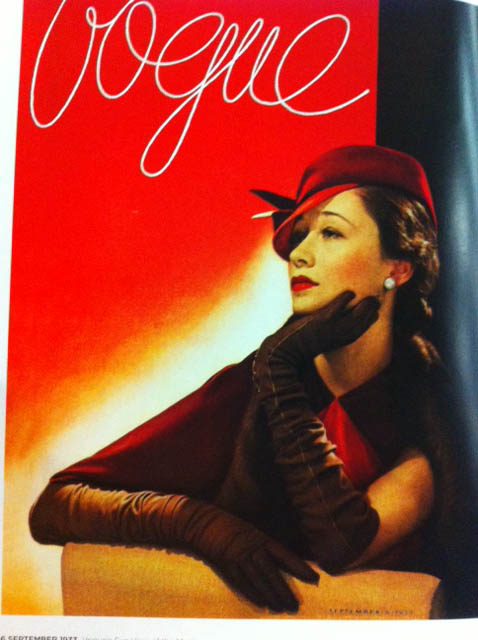 Vogue Cover 1930s Woman In Red Hat