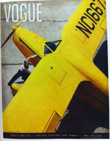 Vogue Cover 1937 Yellow Plane