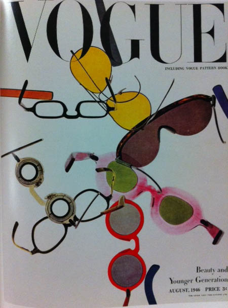 Vogue Cover 1940s Funky Glasses Sunglasses