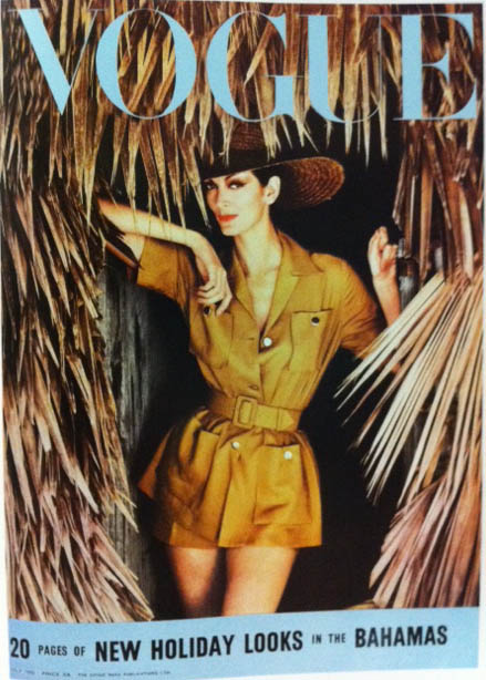 Vogue Cover 1950s Safari Jaket And Shorts