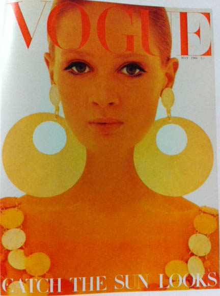 Vogue Cover 1960s Big Gold Earrings May 1966