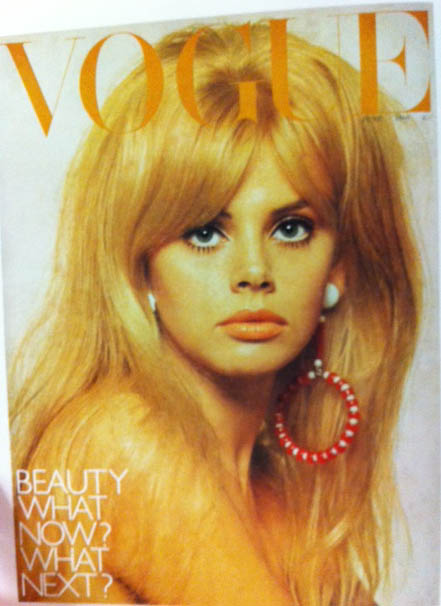 Vogue Cover 1960s Hairstyle Big Earring