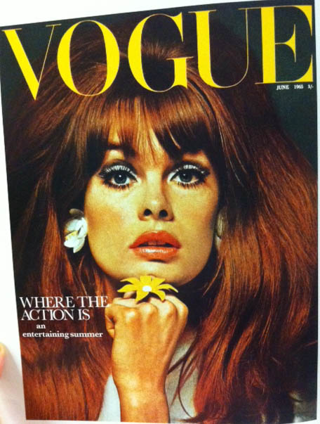 Vogue Cover 1960s Hairstyle Make-Up June 1965