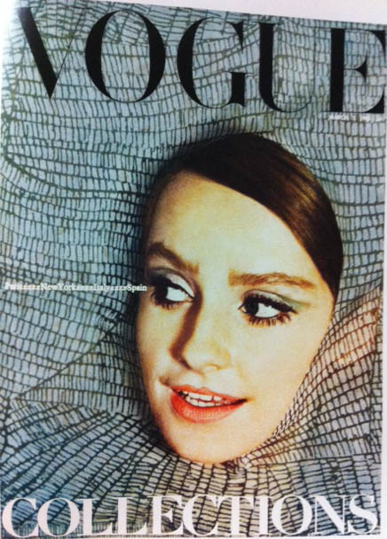 Vogue Cover 1960s March 1965 Abstract Close-Up Model Face