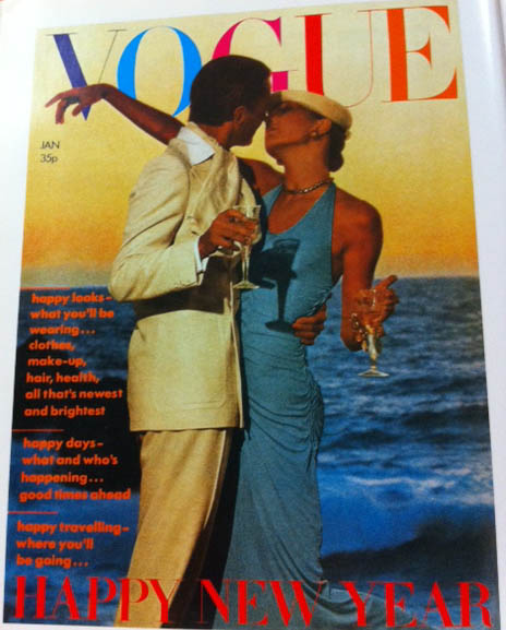 Vogue Cover 1970s Couple Kissing On Beach  January 1974