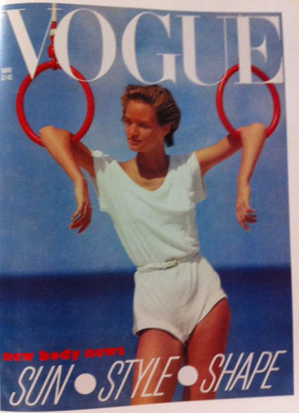 Vogue Cover 1980s Model In White T-Shirt Romper 1983