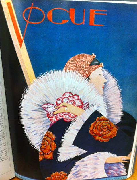 Vogue Covers 1920s Woman Fur Coat