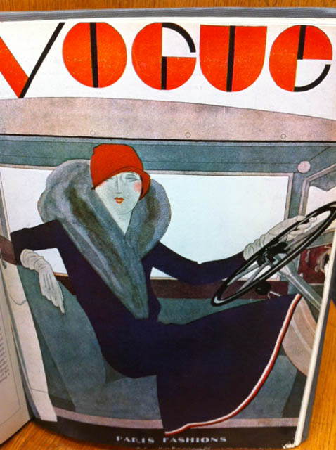 Vogue Covers 1920s Woman In Car