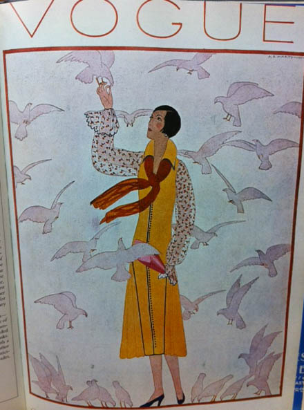 Vogue Covers 1920s Woman WIth Birds February 1926