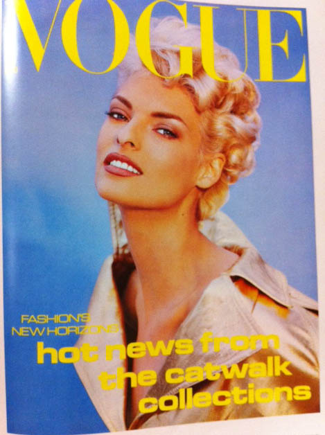 Vogue Covers 1990s Model In Lame Jacket
