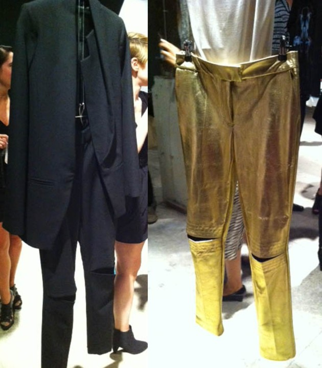 Daniella Kallmeyer Spring 2012 Black Blazer Black Cut Out Pants Gold Pants