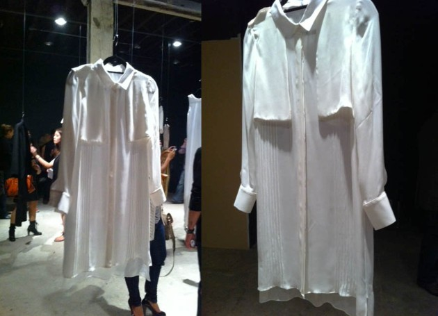 Daniella Kallmeyer Spring 2012 White Taylored Shirt Dress