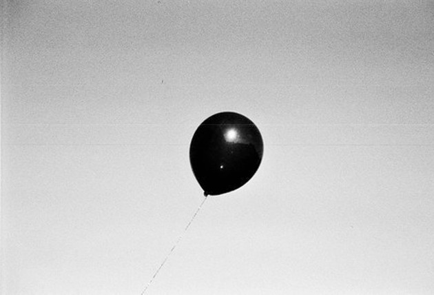 Floating Balloon Black White
