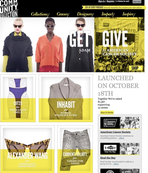 Community Collection E-Commerce Site Fashion Meets Philanthrophy