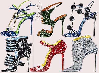 Manolo Blahnik sketches