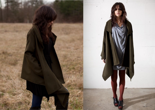 Nicole Bridger Fall 2011 Olive Green Jacket