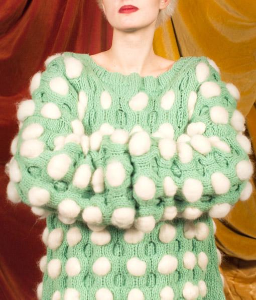Lu Flux Cotton Ball Sweater