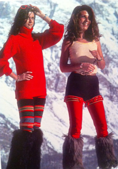 1976 Ski Fashion Italian Socialites