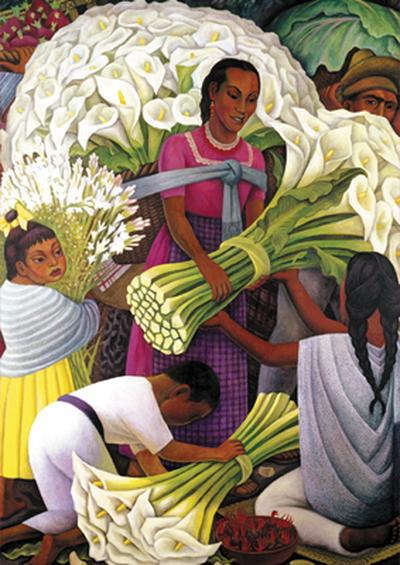 Diego Rivera Flower Vendor