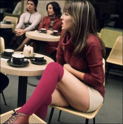 Jane Birkin Hot Pants & knee High Socks