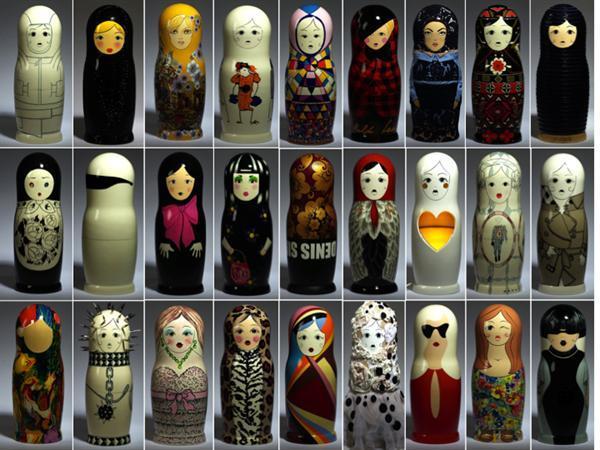 Designer's Russian Dolls Russina Vogue Matrioshki Designer's Dolls