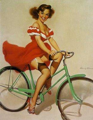Vintage Heels And Bike