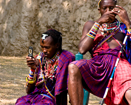 African Prints Cell Phones In Africa