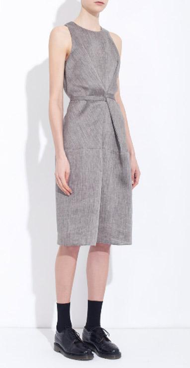 Honest By Bruno Pieters Sleeveless Linen Wrap Dress