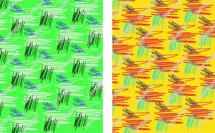 Abstract Grass Print