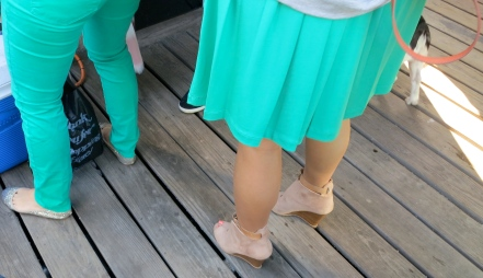 Mint Green Jeans And Skirt Spring 2012