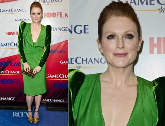 Julianne Moore In Tom Ford Eco Green Dress Game Change Washington Premiere