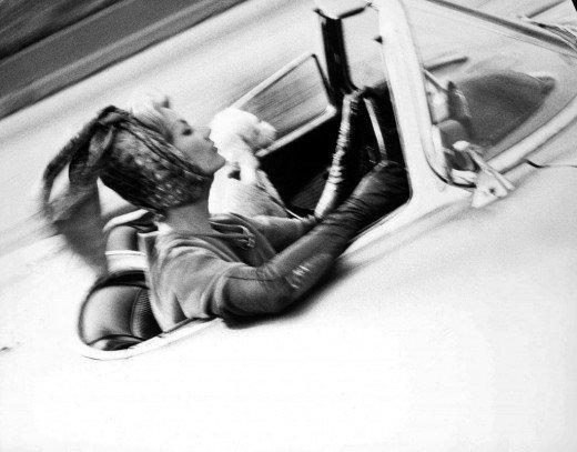 Woman Driving Vintage Fashion photography Lillian Bassman
