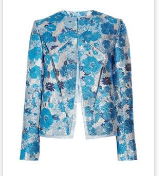 Christopher Kane Silk Blend Floral Brocade Jacket Spring 2012
