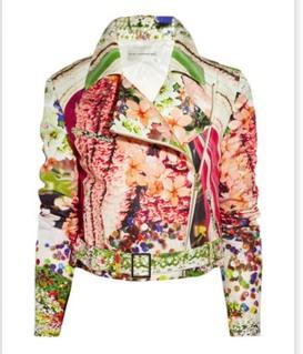 Mary Katrantzou Floral Printed Biker Jacket Spring 2012
