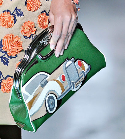 Prada Hot Wheels Green Clutch