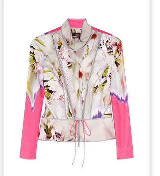 Vera Wang Printed Stretch Cotton Jacket Spring 2012