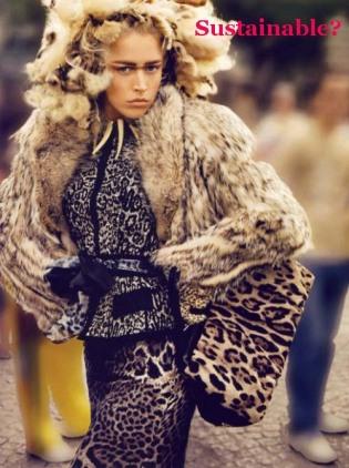 Vogue Paris Raquel Zimmerman Fur Coat Animal Skins Sustainable Fur?