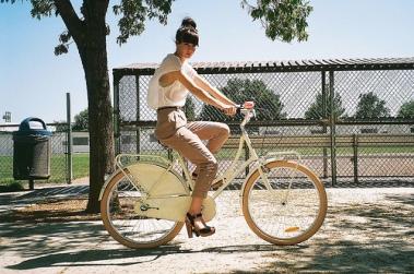 Biking With Heels Nationa Bike To Work Day Sunny