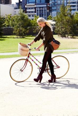 Biking With Heels Nationa Bike To Work Day