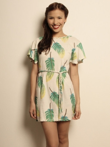 Etrican Feather Print Dress