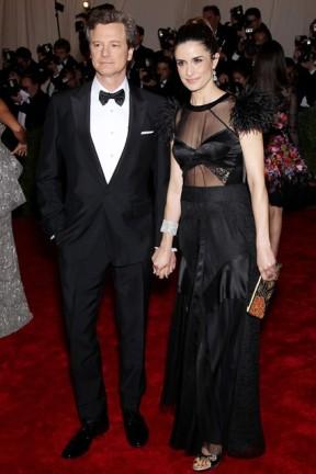 Livia Firth Green Carpet Challenge Prada Black Panel Dress Met Ball