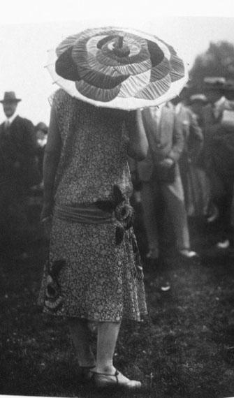 Low Waisted Dress FLower Print Flower Umbrella 1925 Deauville France